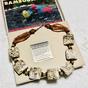 Ghana Recycled Glass Bead Necklace